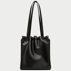 "Zara Leather Mini Tote Bag 11.8""x11.4""x6.2"""